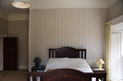 Stripy bedroom