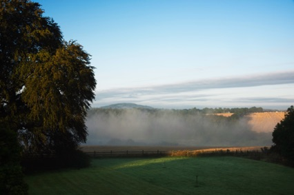 Morning mist over the River Slaney